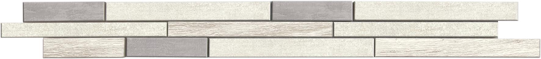 Listello Skema White Clay